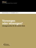 Cover der Ausgabe: Vorsorgen oder versorgen? Lösungsansätze für die zweite Säule