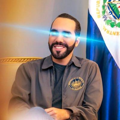 Präsident mit Rappermütze und Laseraugen