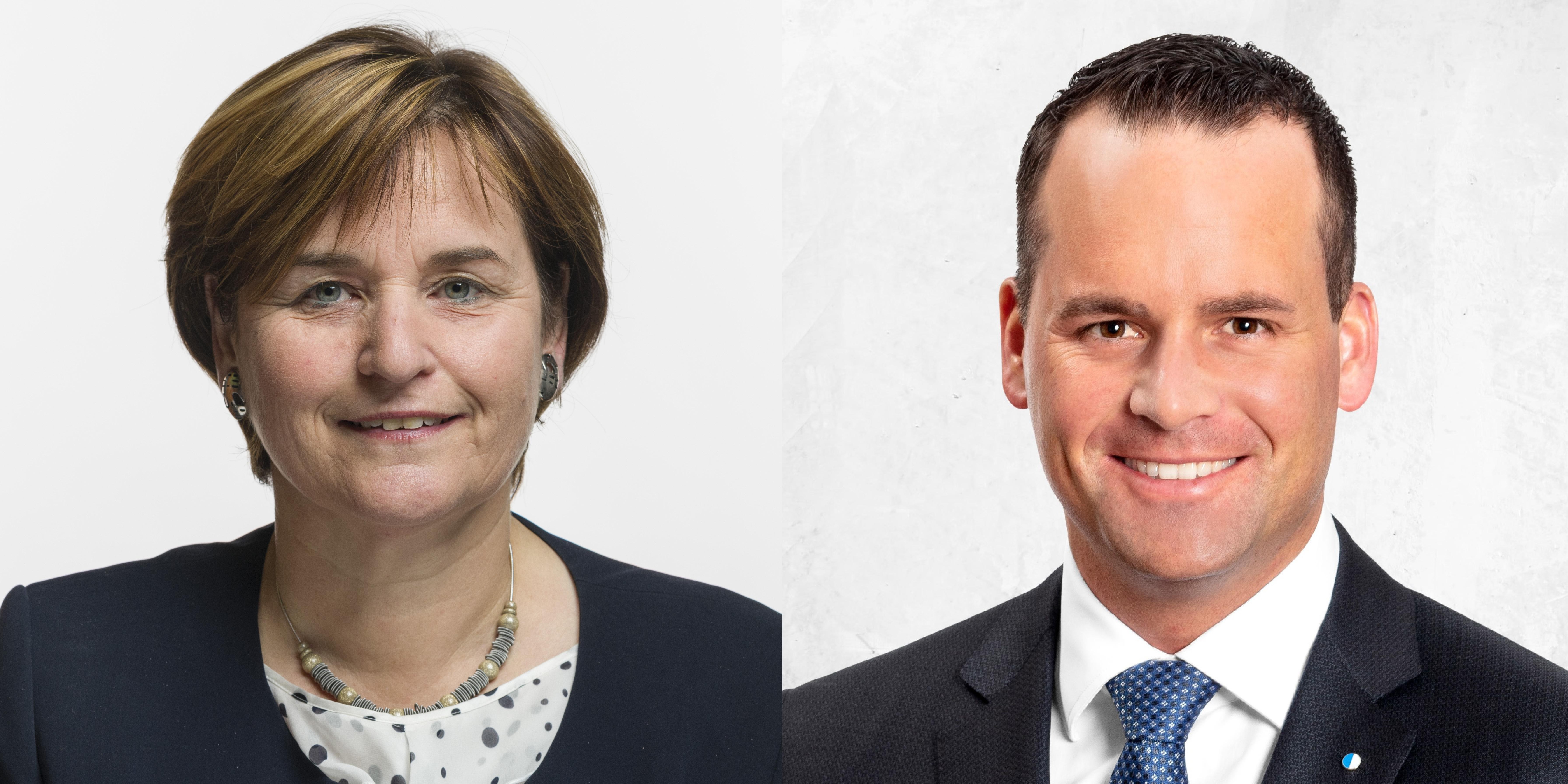 Es diskutieren die Ständeräte Damian Müller (FDP) und Marina Carobbio (SP).